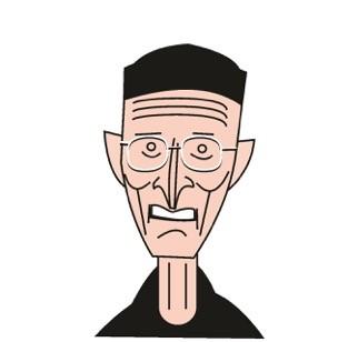 Bodo Hell, Karikatur von Maroine Dib