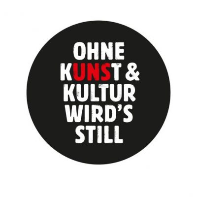Logo Ohne Kunst und Kultur wirds still
